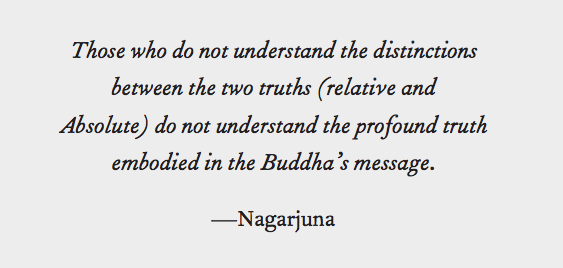 Nagarjuna quote on the two truths