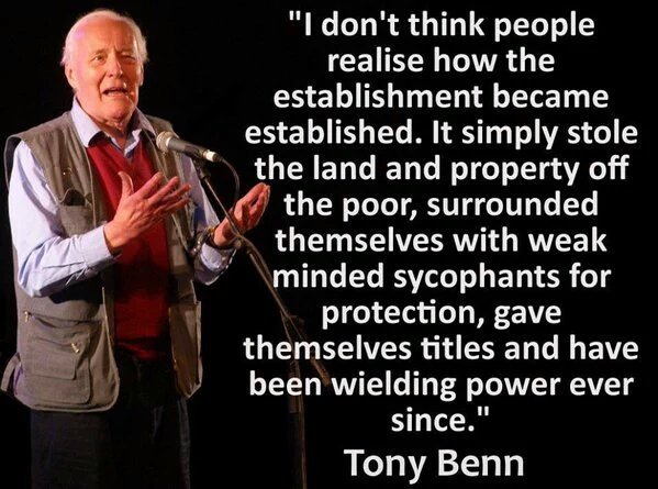Tony Benn - how the establishment became established